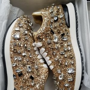 Shoes - Glitz & Bling Statement Sneakers
